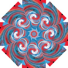 Red And Blue Rounds Straight Umbrellas by berwies