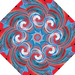 Red And Blue Rounds Hook Handle Umbrellas (large) by berwies