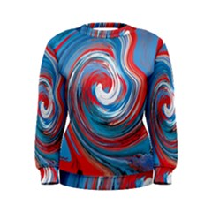 Red And Blue Rounds Women s Sweatshirt by berwies