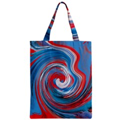 Red And Blue Rounds Zipper Classic Tote Bag by berwies