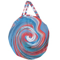 Red And Blue Rounds Giant Round Zipper Tote by berwies