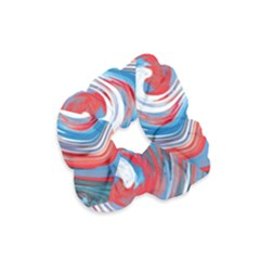 Red And Blue Rounds Velvet Scrunchie by berwies