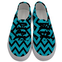 Chevron9 Black Marble & Turquoise Colored Pencil Men s Classic Low Top Sneakers