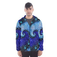 Nocturne Of Scorpio, A Fractal Spiral Painting Hooded Wind Breaker (men) by jayaprime