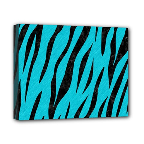 Skin3 Black Marble & Turquoise Colored Pencil Canvas 10  X 8  by trendistuff