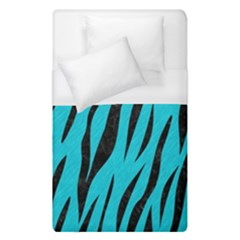 Skin3 Black Marble & Turquoise Colored Pencil Duvet Cover (single Size) by trendistuff