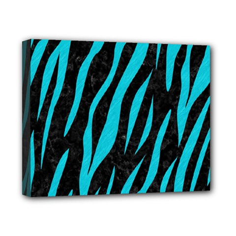 Skin3 Black Marble & Turquoise Colored Pencil (r) Canvas 10  X 8  by trendistuff