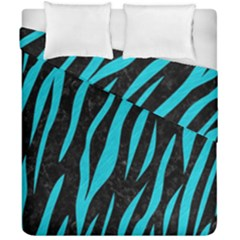 Skin3 Black Marble & Turquoise Colored Pencil (r) Duvet Cover Double Side (california King Size) by trendistuff