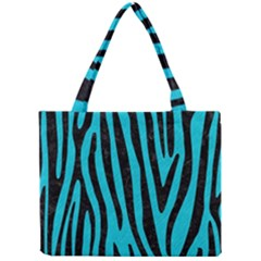 Skin4 Black Marble & Turquoise Colored Pencil (r) Mini Tote Bag by trendistuff