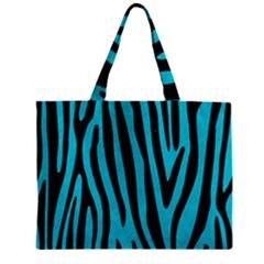 Skin4 Black Marble & Turquoise Colored Pencil (r) Zipper Mini Tote Bag by trendistuff