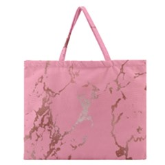 Luxurious Pink Marble Zipper Large Tote Bag by tarastyle
