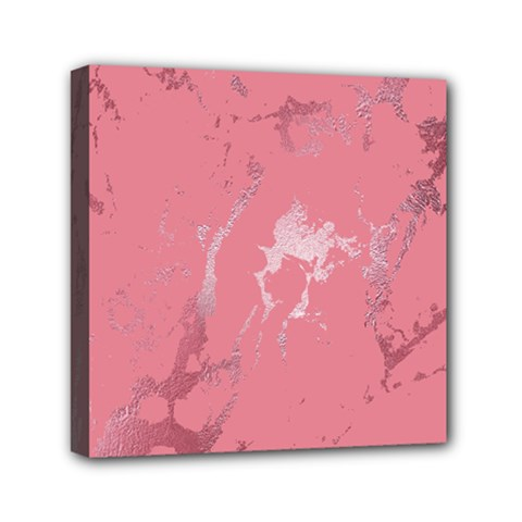 Luxurious Pink Marble Mini Canvas 6  X 6  by tarastyle