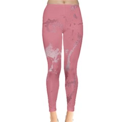 Luxurious Pink Marble Leggings  by tarastyle
