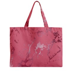 Luxurious Pink Marble Zipper Mini Tote Bag by tarastyle