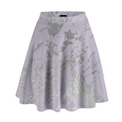 Luxurious Pink Marble High Waist Skirt by tarastyle