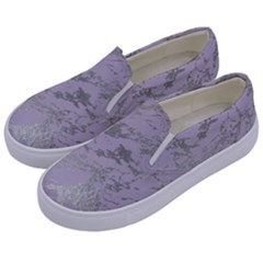 Luxurious Pink Marble Kids  Canvas Slip Ons by tarastyle