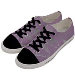 Luxurious Pink Marble Men s Low Top Canvas Sneakers by tarastyle