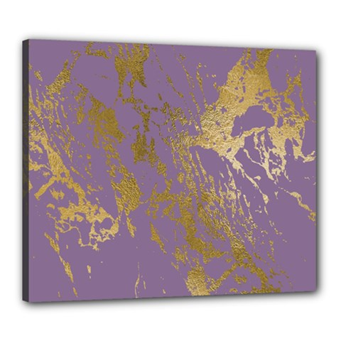 Luxurious Pink Marble Canvas 24  X 20  by tarastyle