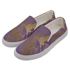 Luxurious Pink Marble Men s Canvas Slip Ons by tarastyle