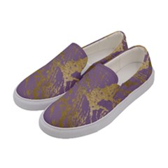 Luxurious Pink Marble Women s Canvas Slip Ons by tarastyle