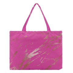 Luxurious Pink Marble Medium Tote Bag