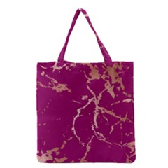 Luxurious Pink Marble Grocery Tote Bag by tarastyle