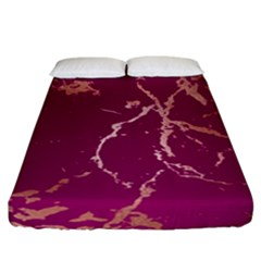 Luxurious Pink Marble Fitted Sheet (california King Size) by tarastyle