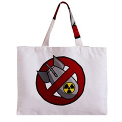 No Nuclear Weapons Zipper Medium Tote Bag by Valentinaart
