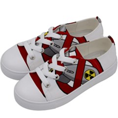 No Nuclear Weapons Kids  Low Top Canvas Sneakers by Valentinaart