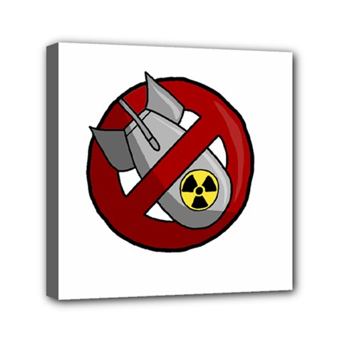 No Nuclear Weapons Mini Canvas 6  X 6  by Valentinaart
