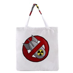 No Nuclear Weapons Grocery Tote Bag by Valentinaart