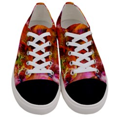 Abstract Acryl Art Women s Low Top Canvas Sneakers