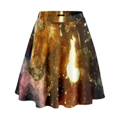 Wonderful Horse In Watercolors High Waist Skirt by FantasyWorld7