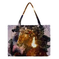 Wonderful Horse In Watercolors Medium Tote Bag by FantasyWorld7