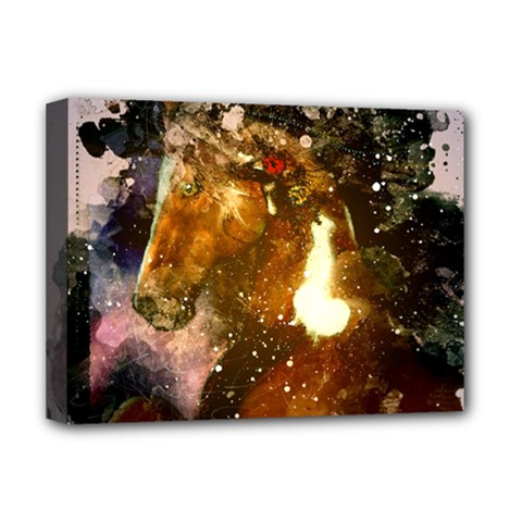 Wonderful Horse In Watercolors Deluxe Canvas 16  X 12   by FantasyWorld7