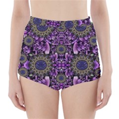 Flowers From Paradise In Fantasy Elegante High Waisted Bikini Bottoms by pepitasart