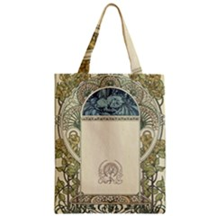 Art Nouveau Zipper Classic Tote Bag by 8fugoso