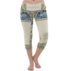 Art Nouveau Capri Yoga Leggings by 8fugoso