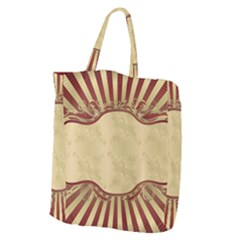 Art Deco Red Giant Grocery Zipper Tote by 8fugoso