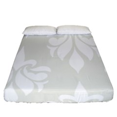 Fleur De Lis Fitted Sheet (queen Size) by 8fugoso