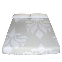 Fleur De Lis Fitted Sheet (california King Size) by 8fugoso
