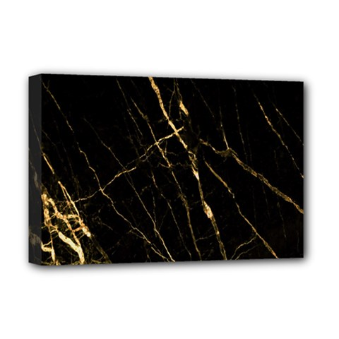 Black Marble Deluxe Canvas 18  X 12   by 8fugoso