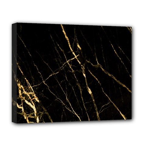 Black Marble Deluxe Canvas 20  X 16   by 8fugoso