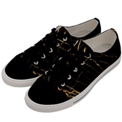 Black Marble Men s Low Top Canvas Sneakers by 8fugoso