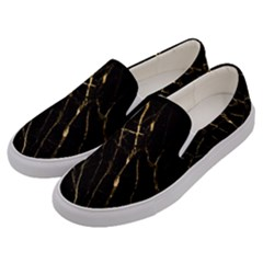 Black Marble Men s Canvas Slip Ons by 8fugoso