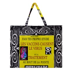Vaccine  Story Mrtacpans Zipper Large Tote Bag by MRTACPANS