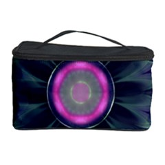 Beautiful Hot Pink And Gray Fractal Anemone Kisses Cosmetic Storage Case by beautifulfractals