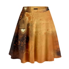 The Funny, Speed Giraffe High Waist Skirt by FantasyWorld7