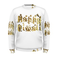 Happy Diwali Gold Golden Stars Star Festival Of Lights Deepavali Typography Men s Sweatshirt by yoursparklingshop