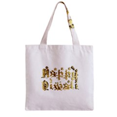 Happy Diwali Gold Golden Stars Star Festival Of Lights Deepavali Typography Grocery Tote Bag by yoursparklingshop